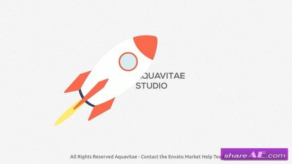Videohive Startup Rocket Logo