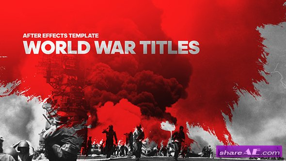 war » free after effects templates | after effects intro