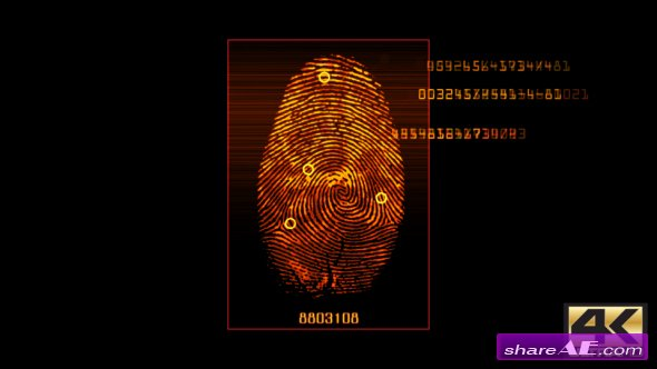 Videohive Fingerprint Scan v3 - Motion Graphic
