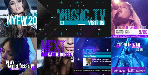 Videohive Music and Entertainment TV Broadcast Pack