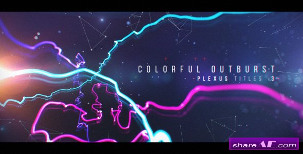 Videohive Plexus Titles 3 (Colorful Outburst)