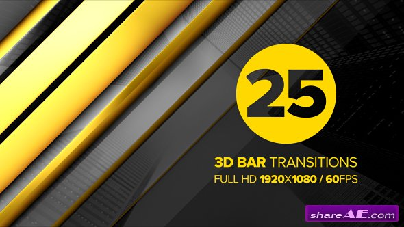 Videohive 3D Bar Transitions