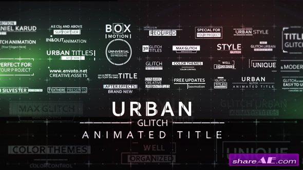 Videohive 30 Fast Glitch Urban Titles