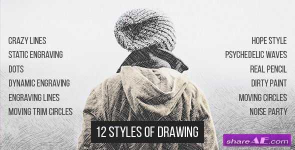 Videohive 12 Styles Of Drawing