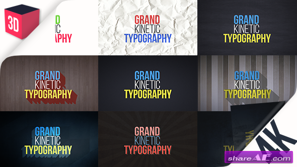 Videohive Grand Kinetic Typography