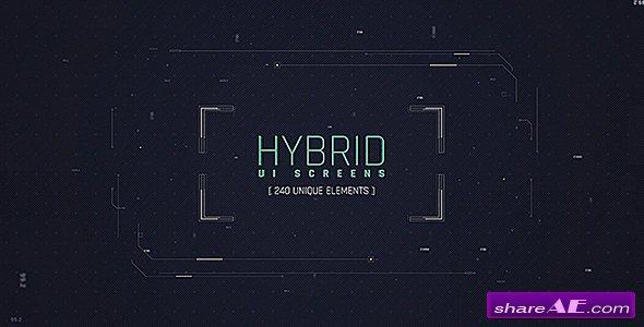 Videohive Hybrid Ui Screens