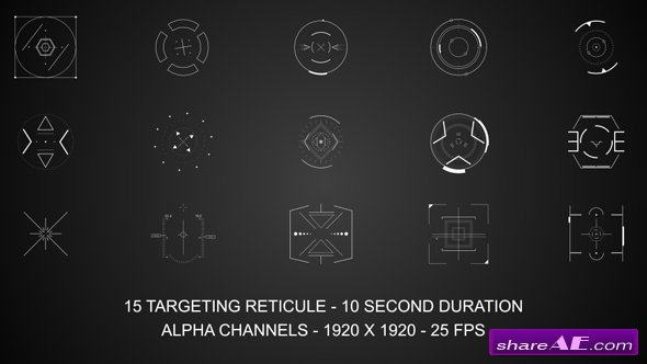 Videohive Targeting Reticules - Motion Graphic