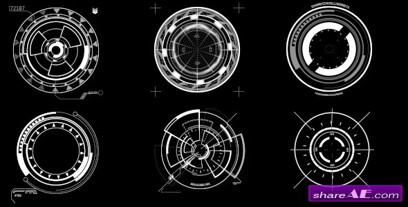 Videohive HUD Circle Elements - Motion Graphic