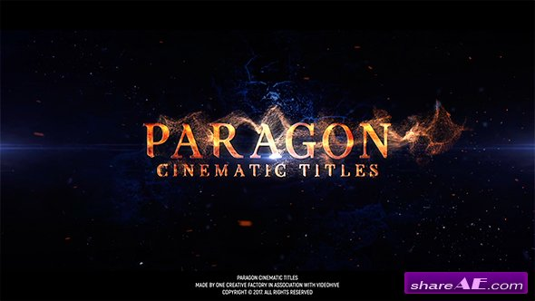 Videohive Paragon Cinematic Titles
