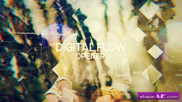 Videohive Digital Flow - Opener