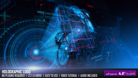 Videohive Holographic Logo 19581817