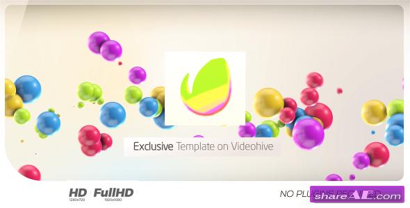 Videohive Colorful 3D Balls // Kids logo
