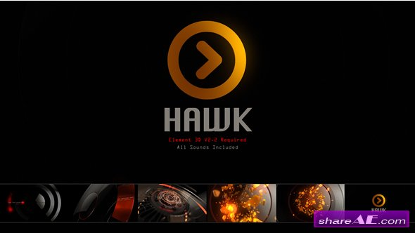 Videohive Hawk Logo
