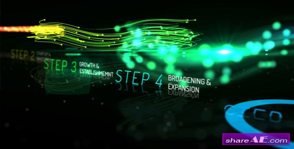 Videohive Rainbow Corporate Timeline Evolution