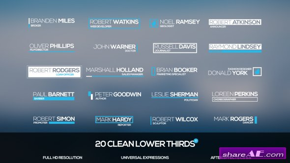 Videohive Clean Lower Thirds