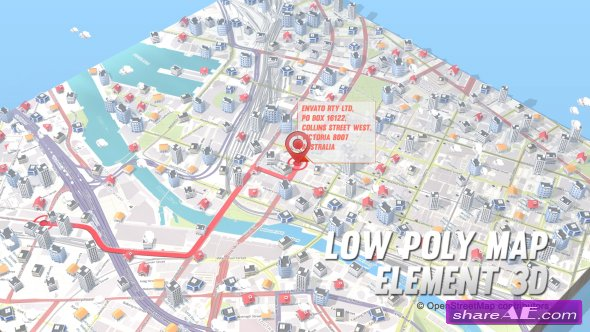 Videohive Lowpoly Map Element 3D