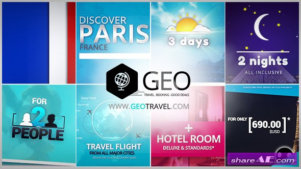 Videohive GEO - Travel & Booking Promo Trip Package