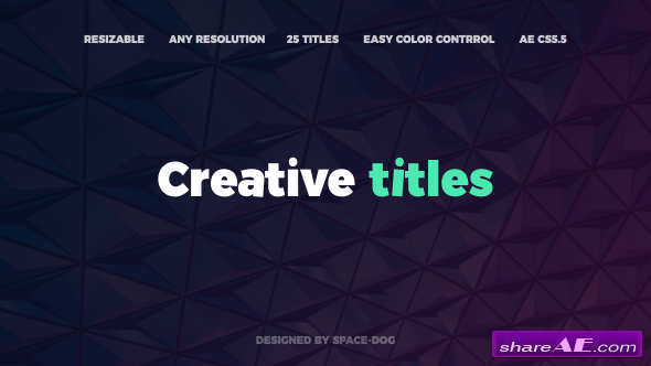 Videohive The Creative Titles
