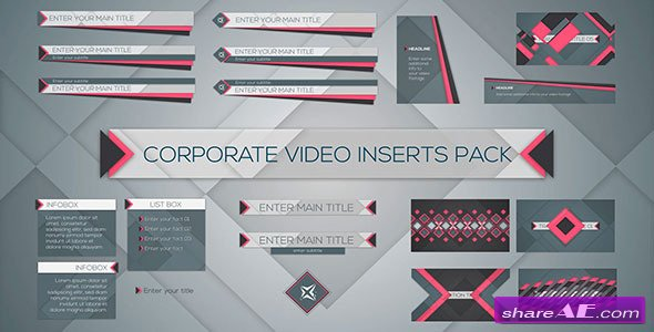 Videohive Corporate Video Inserts Pack