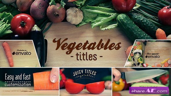 Videohive Vegetables Titles