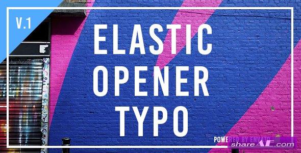 Videohive Elastic Opener Typography