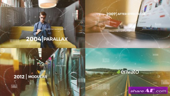 Videohive Parallax Timeline Slideshow
