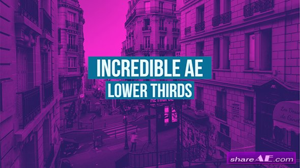 Videohive AE Lower Thirds