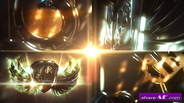 Videohive Metal Wings Logo