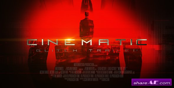 Videohive Cinematic Glitch Trailer