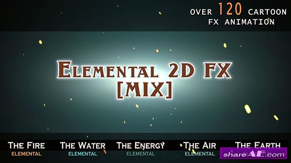 Videohive Elemental 2D FX [MIX]
