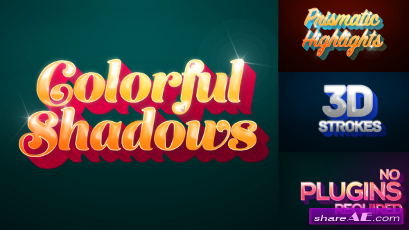 Videohive Colorful Shadows - Motion Titles Pack