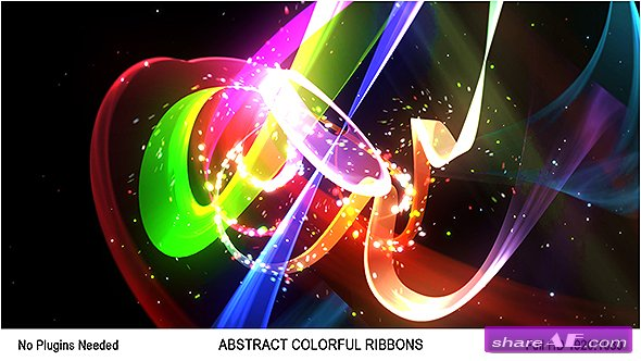 Videohive Abstract Colorful Ribbons Logo