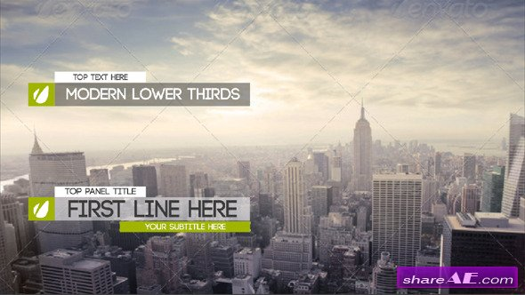 Videohive Modern And Clean Lower Thirds