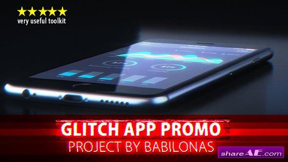 Videohive Glitch App Promo