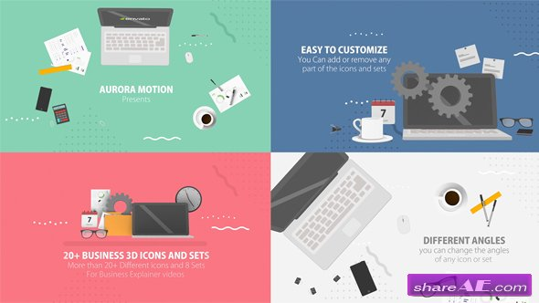 Videohive 20+ Business 3D Icons