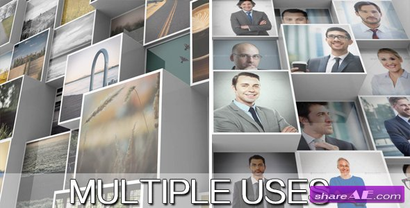 Videohive 3D Mosaic Corporate Logo