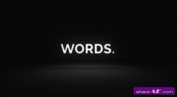 Videohive Words - Media Opener