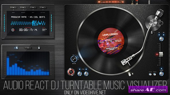 Videohive Audio React DJ Turntable Music Visualizer