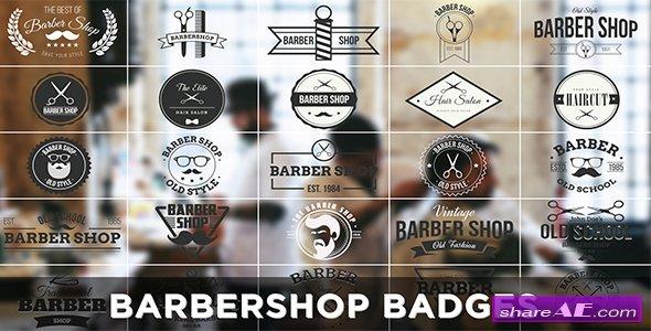 Videohive Barbershop Badges