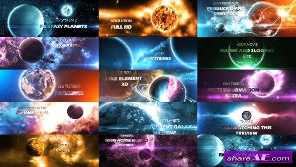 Videohive Solar System 2 ( Fantasy Planets ) 8K