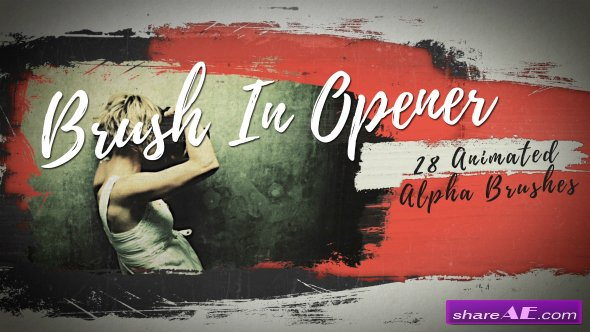 Videohive Brush In Opener