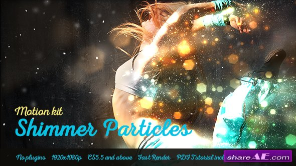 Videohive Shimmer Particles Motion Kit