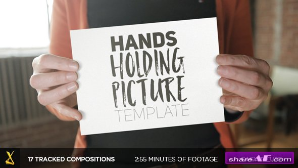 Videohive Hands Holding Pictures