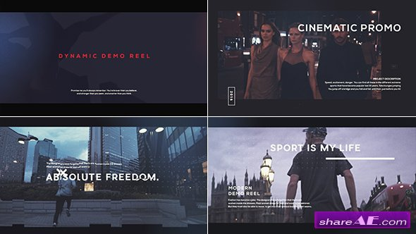 Videohive Cinematic Demo Reel » free after effects templates