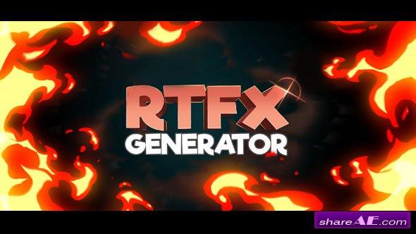Videohive RTFX Generator + 510 FX pack
