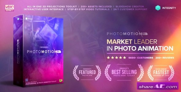 Videohive Photo Motion Pro - Professional 3D Photo Animator (with 3 February 17 Update)