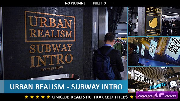 Videohive Urban Realism - Subway Intro