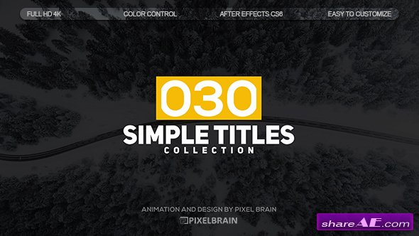 Videohive Simple Titles 19626743