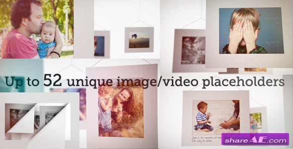 Videohive White Frames Slideshow