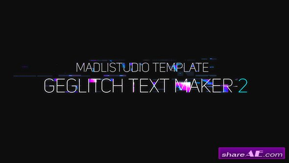 Videohive Ge Glitch Text Maker 2